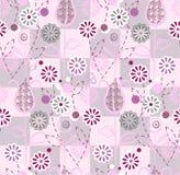 Teste padrão sem emenda - flores cor-de-rosa Imagem de Stock Royalty Free