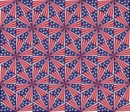 Teste padrão sem emenda - fogos-de-artifício no Dia da Independência. ilustração royalty free