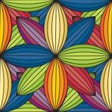 Teste padrão sem emenda folhas coloridas de uma flor Imagem de Stock Royalty Free