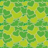 Teste padrão sem emenda - formas dos corações, camuflagem verde para telas, papéis de parede, toalhas de mesa, cópias e proj ilustração do vetor