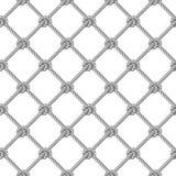Teste padrão sem emenda, fundo, corda cinzenta tecida na rede de pesca do formulário ilustração do vetor