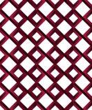 Teste padrão sem emenda geométrico à moda da ilusão das figuras impossíveis vermelhas do rubi - rombos em um fundo branco fotografia de stock royalty free