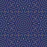 Teste padrão sem emenda geométrico árabe ilustração royalty free