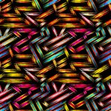 Teste padrão sem emenda geométrico abstrato brilhante no estilo dos grafittis ilustração do vetor da qualidade para seu projeto ilustração stock