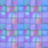 Teste padrão sem emenda geométrico abstrato com quadrados Arte finala colorida do watercolour foto de stock royalty free