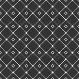 Teste padrão sem emenda geométrico abstrato de repetir rombos Fundo do monochrome do vetor ilustração stock