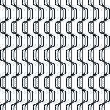 Teste padrão sem emenda geométrico abstrato Listras onduladas simples do ziguezague ilustração stock