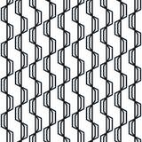 Teste padrão sem emenda geométrico abstrato Listras onduladas simples do ziguezague ilustração royalty free