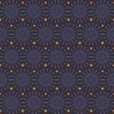 Teste padrão sem emenda geométrico abstrato Pancadinha roxa e alaranjada do estilo Foto de Stock Royalty Free