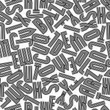 Teste padrão sem emenda geométrico com letras, fundo do vetor Fotografia de Stock