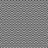 Teste padrão sem emenda geométrico da estrela Gráfico da forma Ilustração do vetor Projeto do fundo Ilusão ótica 3D Abst à moda m Fotos de Stock