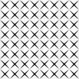 Teste padrão sem emenda geométrico da forma simples preto e branco da estrela, vetor ilustração royalty free