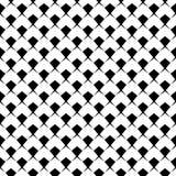Teste padrão sem emenda geométrico da forma simples preto e branco da estrela, vetor ilustração do vetor