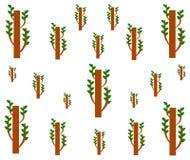 Teste padrão sem emenda geométrico de tiragem da árvore do broto ilustração stock