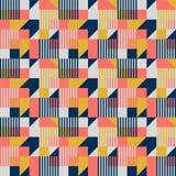 Teste padrão sem emenda geométrico do estilo do Bauhaus fotografia de stock royalty free