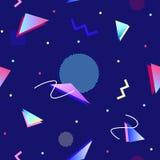 teste padrão sem emenda geométrico do estilo 90s Foto de Stock Royalty Free