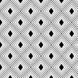 Teste padrão sem emenda geométrico do labirinto preto e branco Fotos de Stock Royalty Free