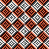 Teste padrão sem emenda geométrico do vetor com listras, linhas, quadrados imagem de stock royalty free