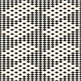Teste padrão sem emenda geométrico do vetor Textura quadriculado preto e branco da manta ilustração do vetor