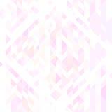 Teste padrão sem emenda geométrico dos triângulos cor-de-rosa, brancos e violetas da luz - Foto de Stock Royalty Free