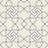 Teste padrão sem emenda geométrico islâmico, fundo nas máscaras do sepia Fotografia de Stock