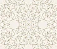 Teste padrão sem emenda geométrico islâmico, fundo nas máscaras do sepia Foto de Stock Royalty Free
