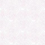 Teste padrão sem emenda geométrico linear pálido - rosa Teste padrão sem emenda, fundo, textura Ornamento do vetor Telhas decorat Fotos de Stock