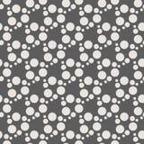 Teste padrão sem emenda geométrico monocromático do vetor com círculos Ilustração Stock