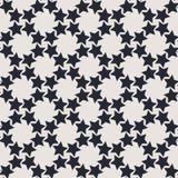 Teste padrão sem emenda geométrico monocromático do vetor com estrelas Ilustração Royalty Free