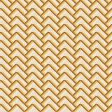 Teste padrão sem emenda geométrico, motivo decorativo marrom ilustração stock