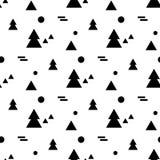 Teste padrão sem emenda geométrico no estilo escandinavo Imagens de Stock