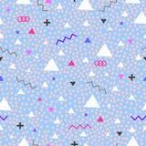 Teste padrão sem emenda geométrico para a forma e o papel de parede Foto de Stock
