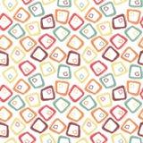 Teste padrão sem emenda geométrico pastel retro abstrato Fotografia de Stock