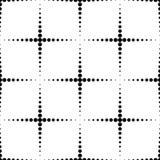 Teste padrão sem emenda geométrico preto e branco com o círculo, abstrato ilustração stock