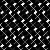 Teste padrão sem emenda geométrico preto e branco, fundo abstrato Fotos de Stock