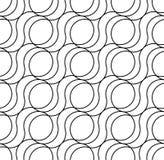 Teste padrão sem emenda geométrico preto e branco, fundo abstrato ilustração stock