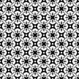 Teste padrão sem emenda GEOMÉTRICO preto no fundo branco Imagens de Stock Royalty Free