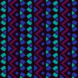 Teste padrão sem emenda geométrico simples vertical do vetor de matéria têxtil Ilustração Royalty Free