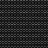Teste padrão sem emenda gráfico feito do teste padrão preto do favo de mel sobre o branco Imagens de Stock