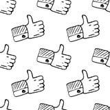 Teste padrão sem emenda Handdrawn como o ícone da garatuja Esbo?o preto tirado m?o s?mbolo do sinal Elemento da decora??o Fundo b ilustração royalty free
