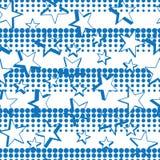 Teste padrão sem emenda horizontal da simetria 3d de intervalo mínimo azul da estrela ilustração stock