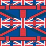 Teste padrão sem emenda horizontal de Reino Unido Union Jack ilustração do vetor