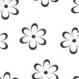 Teste padrão sem emenda Ilustração do vetor com flores Fotografia de Stock