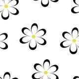 Teste padrão sem emenda Ilustração do vetor com flores Imagens de Stock