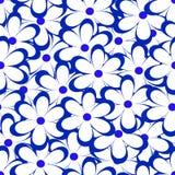 Teste padrão sem emenda Ilustração do vetor com flores Vintage Flor Foto de Stock