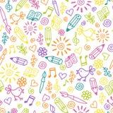 Teste padrão sem emenda infantil alegre ilustração stock