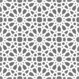 Teste padrão sem emenda islâmico do vetor Ornamento geométricos brancos baseados na arte árabe tradicional Mosaico muçulmano orie ilustração stock