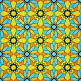 Teste padrão sem emenda islâmico do vidro manchado Fotografia de Stock Royalty Free
