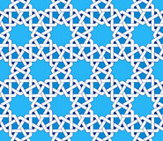 Teste padrão sem emenda islâmico Ornamento geométricos orientais, arte árabe tradicional Foto de Stock