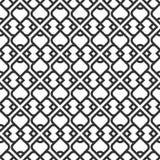 Teste padrão sem emenda islâmico preto e branco Imagens de Stock Royalty Free